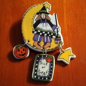 Vintage Halloween Trick or Treat Broach